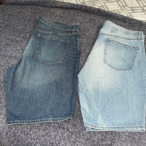 2 pair of old navy Jean shorts